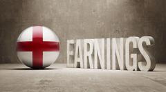 England Earnings Concept - stock illustration