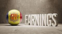 Andorra Earnings Concept Stock Illustration