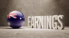 Australia Earnings Concept Stock Illustration