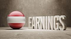 Stock Illustration of Austria Earnings Concept
