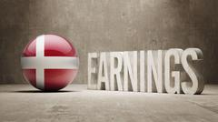 Denmark Earnings Concept Stock Illustration