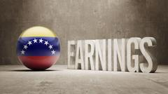 Venezuela Earnings Concept Stock Illustration