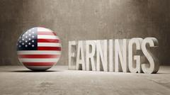 United States Earnings Concept - stock illustration