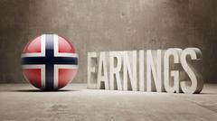 Norway Earnings Concept Stock Illustration
