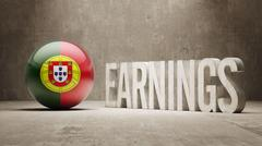 Portugal Earnings Concept Stock Illustration