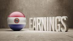 Paraguay Earnings Concept Stock Illustration
