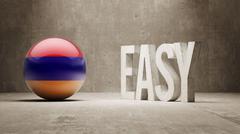Armenia. Easy  Concept. Stock Illustration