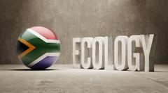 South Africa. Ecology  Concept. Stock Illustration