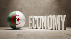Algeria. Economy  Concept. - stock illustration