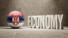 Serbia. Economy  Concept. - stock illustration