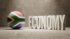 South Africa. Economy  Concept. - stock illustration