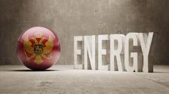 Stock Illustration of Montenegro. Energy  Concept.