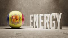 Andorra. Energy  Concept. Stock Illustration