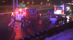Emergency  scene on the freeway Stock Footage