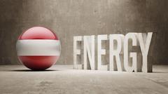 Austria. Energy  Concept. Stock Illustration