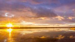 4k Time Lapse Sunset Cloudscape at Algarve QDLago Stock Footage