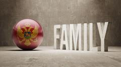 Stock Illustration of Montenegro. Family  Concept.