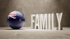 New Zealand. Family  Concept. Stock Illustration