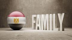 Egypt. Family  Concept. Stock Illustration