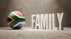 South Africa. Family  Concept. Stock Illustration