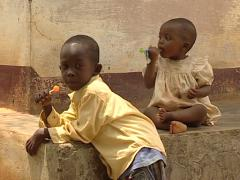 Bantu kids Stock Footage