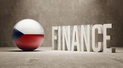 Stock Illustration of Czech Republic. Finance  Concept.