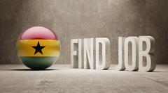 Stock Illustration of Ghana. Find Job  Concept