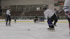 Hockey slapshot, Ice Hockey team sport game day Stock Footage