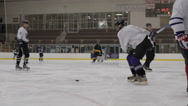 Stock Video Footage of Hockey slapshot, Ice Hockey team sport game day