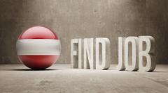 Stock Illustration of Austria. Find Job  Concept