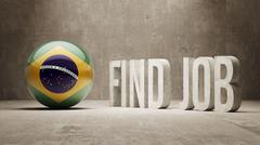 Brazil. Find Job  Concept - stock illustration