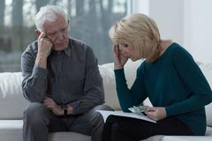 Troubled couple - stock photo