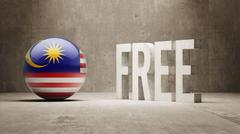 Malaysia. Free  Concept. - stock illustration