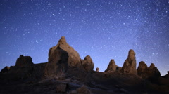 4K 3 Axis Motion Control Astro Time Lapse of Milky Way & Pinnacles -Tilt Down- Stock Footage