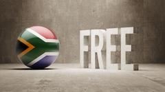 South Africa. Free  Concept. Stock Illustration