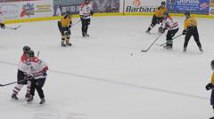 Hockey breakaway, Ice Hockey team sport game day Stock Footage