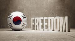 South Korea Freedom Concept - stock illustration