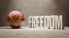 Montenegro. Freedom Concept - stock illustration