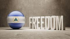 Stock Illustration of Nicaragua Freedom Concept