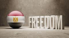 Stock Illustration of Egypt Freedom Concept