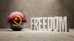 Angola Freedom Concept - stock illustration