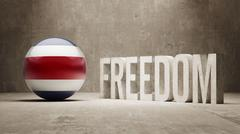 Costa Rica. Freedom Concept - stock illustration