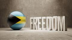 Bahamas. Freedom Concept - stock illustration
