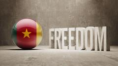Cameroon Freedom Concept - stock illustration