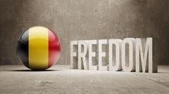 Stock Illustration of Belgium Freedom Concept