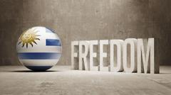 Stock Illustration of Uruguay Freedom Concept