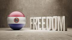Paraguay Freedom Concept - stock illustration