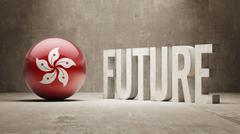 Hong Kong. Future  Concept. - stock illustration