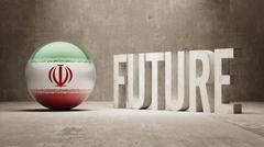 Iran. Future  Concept. - stock illustration