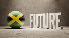 Jamaica. Future  Concept. Stock Illustration